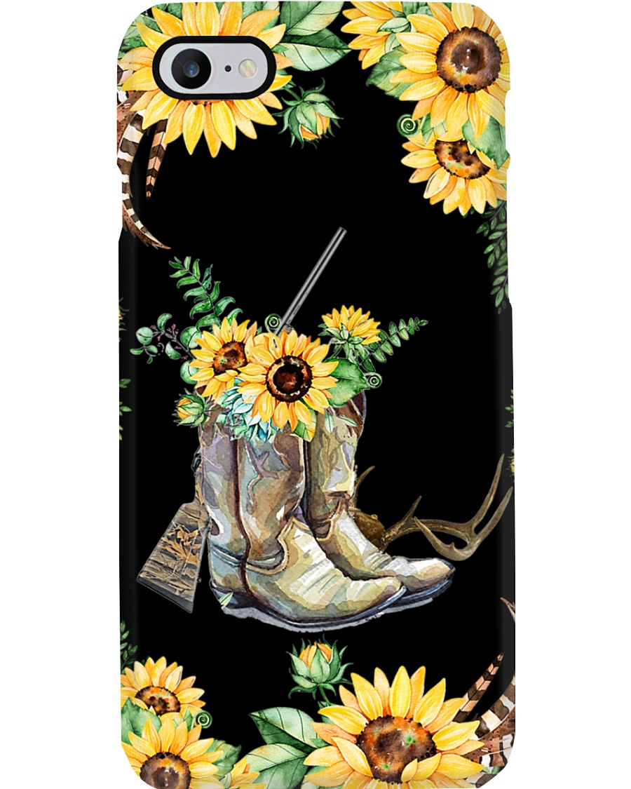 Hunting with sunflower  Phone Case