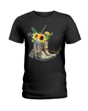 Hunting with sunflower  Ladies T-Shirt thumbnail