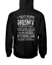 I Was Born To Hunt Hooded Sweatshirt back