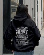 I Was Born To Hunt Hooded Sweatshirt lifestyle-unisex-hoodie-back-2