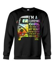 Camping Girl Crewneck Sweatshirt thumbnail