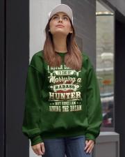 Living the dream Crewneck Sweatshirt lifestyle-unisex-sweatshirt-front-1