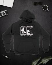 Wife hunting Hooded Sweatshirt lifestyle-unisex-hoodie-front-9