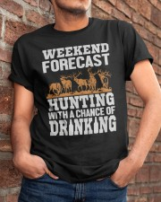 Hunting with a chance of drinking Classic T-Shirt apparel-classic-tshirt-lifestyle-26