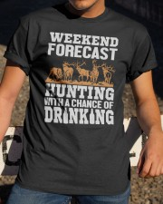 Hunting with a chance of drinking Classic T-Shirt apparel-classic-tshirt-lifestyle-28