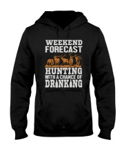 Hunting with a chance of drinking Hooded Sweatshirt thumbnail
