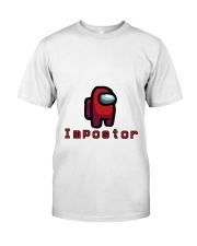 Red Impostor Among us Shirts and Hoodie Classic T-Shirt front