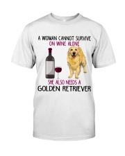 WOMAN NEEDS A GOLDEN RETRIEVER Classic T-Shirt front