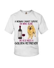 WOMAN NEEDS A GOLDEN RETRIEVER Youth T-Shirt thumbnail