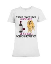 WOMAN NEEDS A GOLDEN RETRIEVER Premium Fit Ladies Tee thumbnail