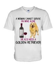 WOMAN NEEDS A GOLDEN RETRIEVER V-Neck T-Shirt thumbnail