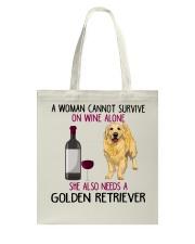 WOMAN NEEDS A GOLDEN RETRIEVER Tote Bag thumbnail