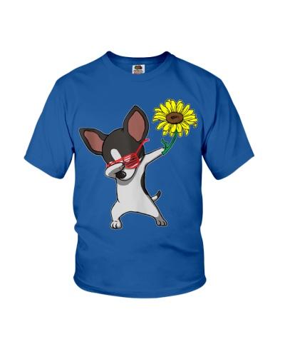 Dabbing Chihuahua Dog Sunflower Autism Awareness