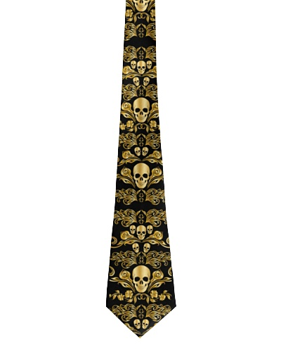 Golden Skull Tie For Men - 1