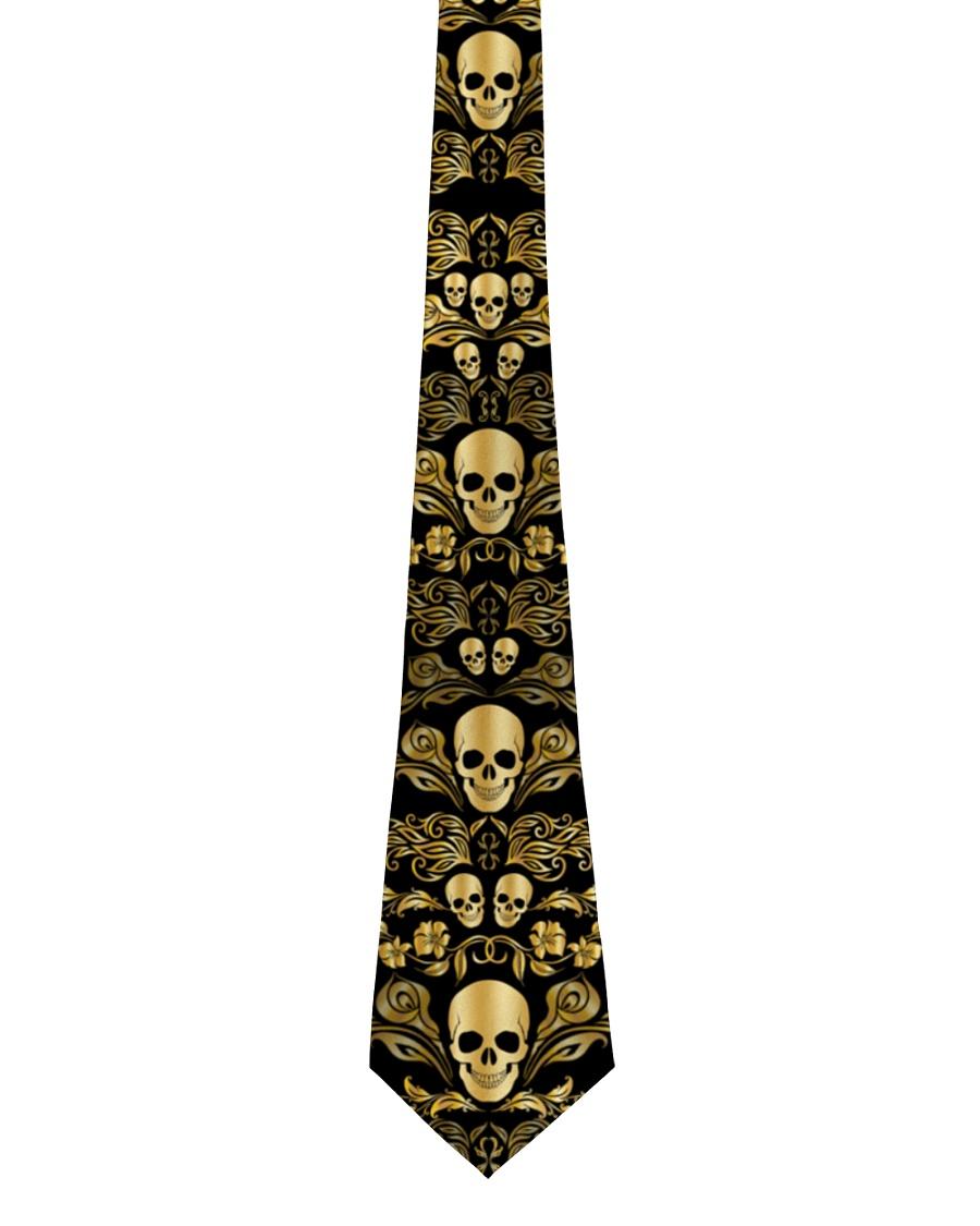 Skull Gold Tie for Men Tie