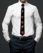 Black Red Rose Skull Tie For Mens - 1 Tie aos-tie-lifestyle-front-01