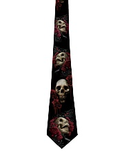 Black Red Rose Skull Tie For Mens - 1 Tie front