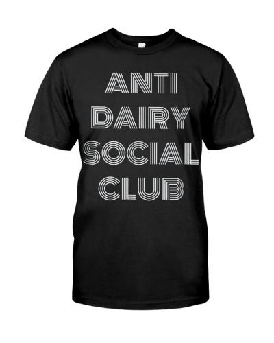 ANTI DAIRY SOCIAL CLUB FUNNY VEGAN VEGANISM T SHIR
