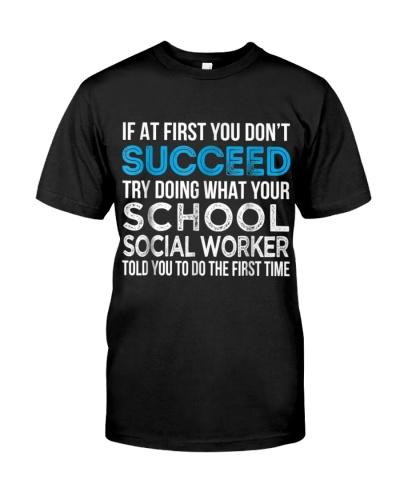 SCHOOL SOCIAL WORKER FUNNY GIFT T SHIRT
