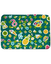"Tropical Green Bath Mat - 24"" x 17"" front"
