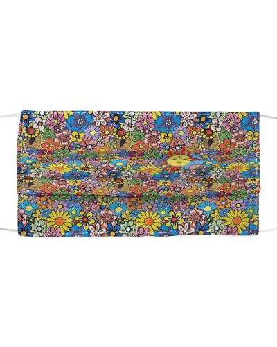 Colorful Flower Hippie Face Mask