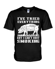 I have tried everything but I cant quit smoking V-Neck T-Shirt thumbnail