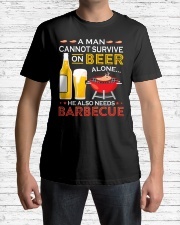 A Man Cannot Survive on Beer Alone Classic T-Shirt lifestyle-mens-crewneck-front-1