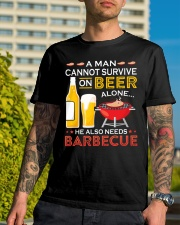 A Man Cannot Survive on Beer Alone Classic T-Shirt lifestyle-mens-crewneck-front-8