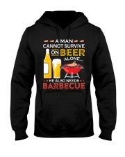 A Man Cannot Survive on Beer Alone Hooded Sweatshirt thumbnail