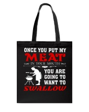 BBQ MUG SWALLOW MEAT Tote Bag thumbnail