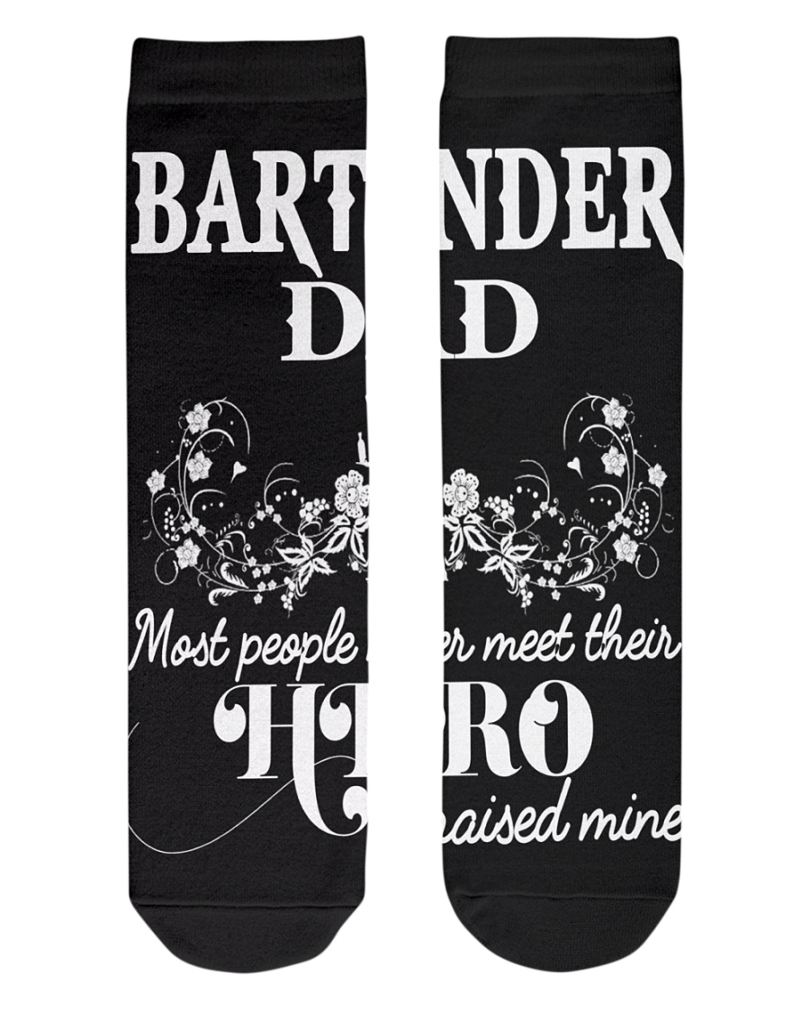 Bartender Dad Crew Length Socks