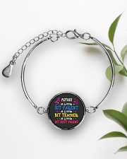 Mother's Day best gift Metallic Circle Bracelet aos-bracelet-metal-front-lifestyle-4