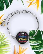 Mother's Day best gift Metallic Circle Bracelet aos-bracelet-metal-front-lifestyle-7