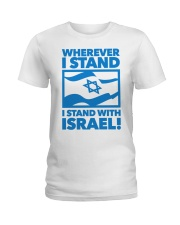 I stand with Ladies T-Shirt thumbnail