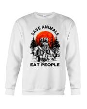 Save Animals Eat People Crewneck Sweatshirt thumbnail