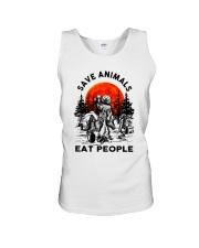 Save Animals Eat People Unisex Tank thumbnail