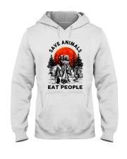 Save Animals Eat People Hooded Sweatshirt front