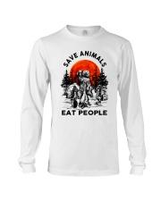 Save Animals Eat People Long Sleeve Tee thumbnail