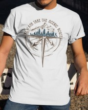 Always Take The Scenic Route Classic T-Shirt apparel-classic-tshirt-lifestyle-28
