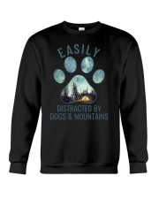 Dogs And Mountains Crewneck Sweatshirt thumbnail