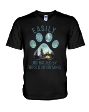 Dogs And Mountains V-Neck T-Shirt thumbnail