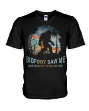 Bigfoot Saw Me V-Neck T-Shirt thumbnail