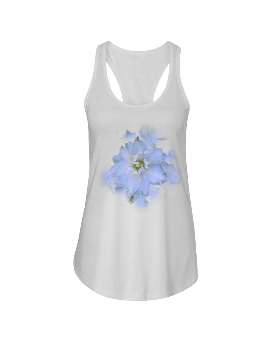 White Blossom Ladies Flowy Tank