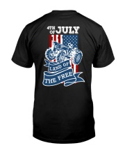 4th of July Tractor Freedom Classic T-Shirt back