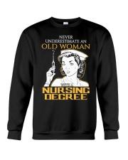 OLD WOMAN NURSING DEGREE Crewneck Sweatshirt thumbnail