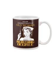 OLD WOMAN NURSING DEGREE Mug thumbnail
