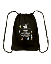 Don't have to be crazy Drawstring Bag thumbnail