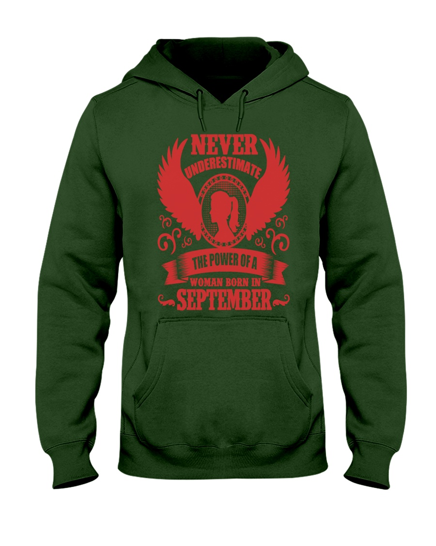 Woman Born In September Hooded Sweatshirt