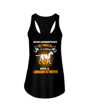 WOMAN WITH A LABS Ladies Flowy Tank thumbnail