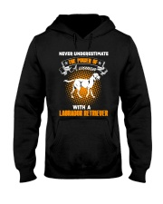 WOMAN WITH A LABS Hooded Sweatshirt thumbnail